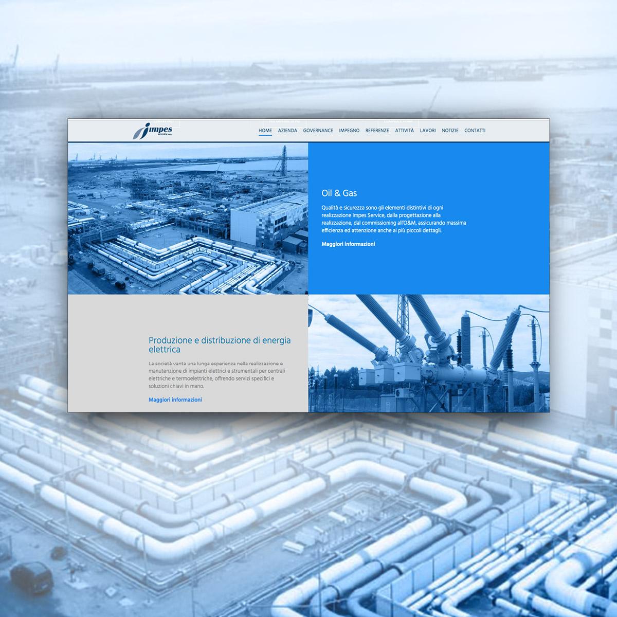 Progettazione sito web per Impes Service