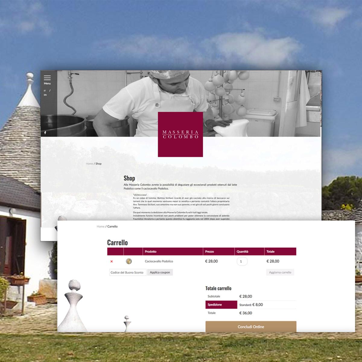 Masseria Colombo sito web