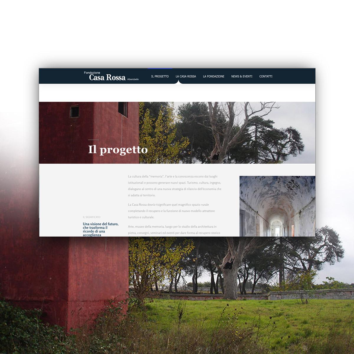 Sito web per Fondazione Casa Rossa