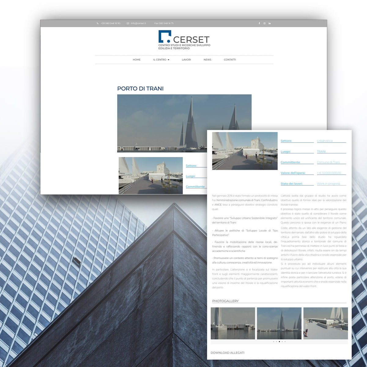 Progettazione sito web per Cerset