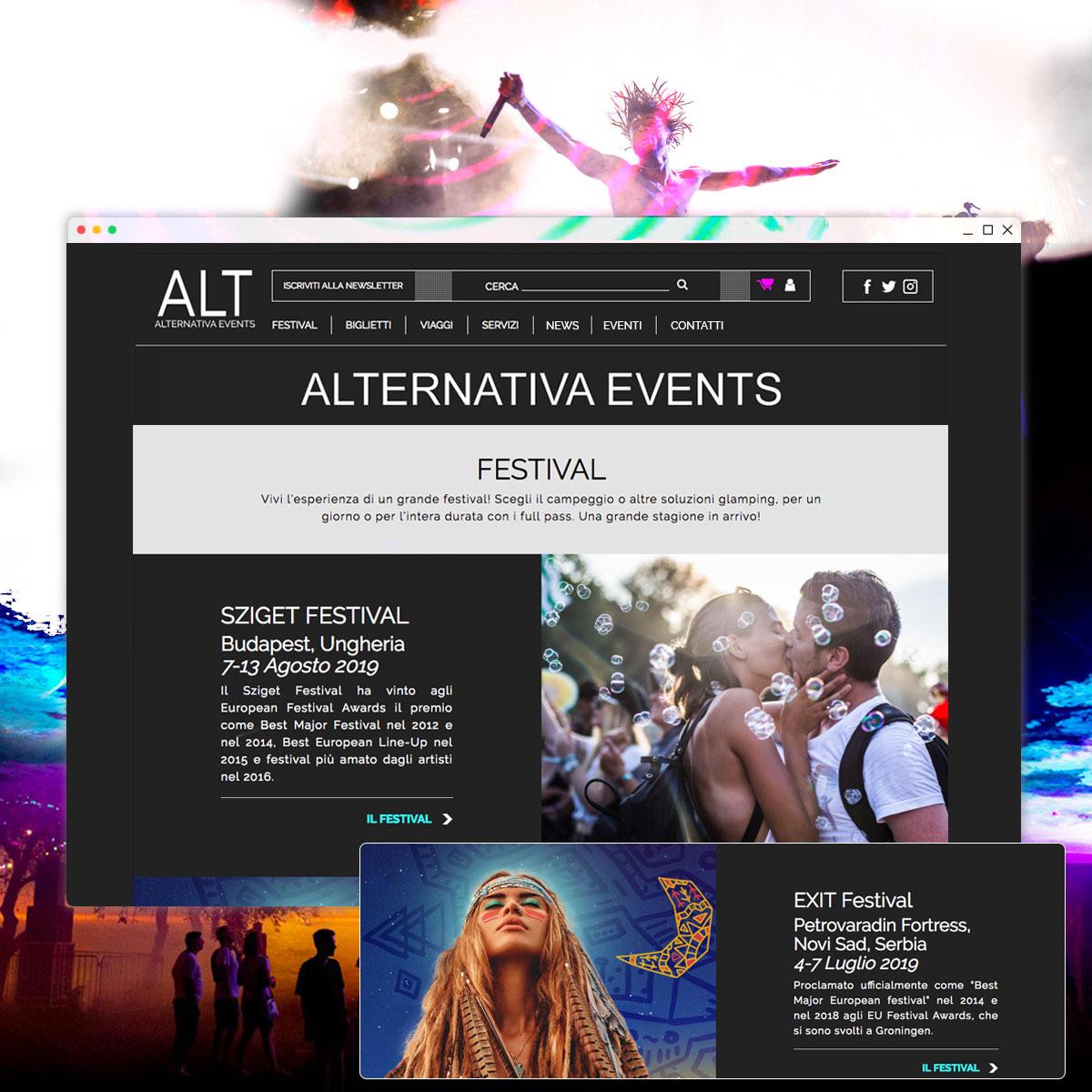 Sito web ALT - Alternativa Events