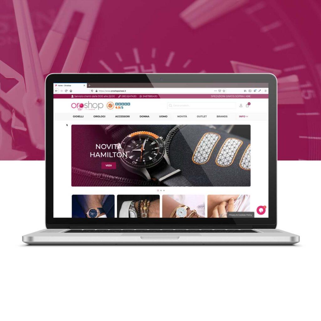 Homepage Ecommerce Oroshop Sinesi