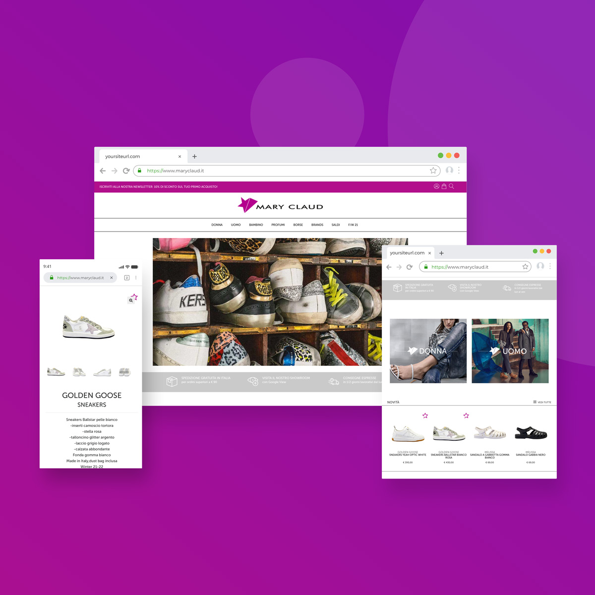 Mary Claud shop online Responsive